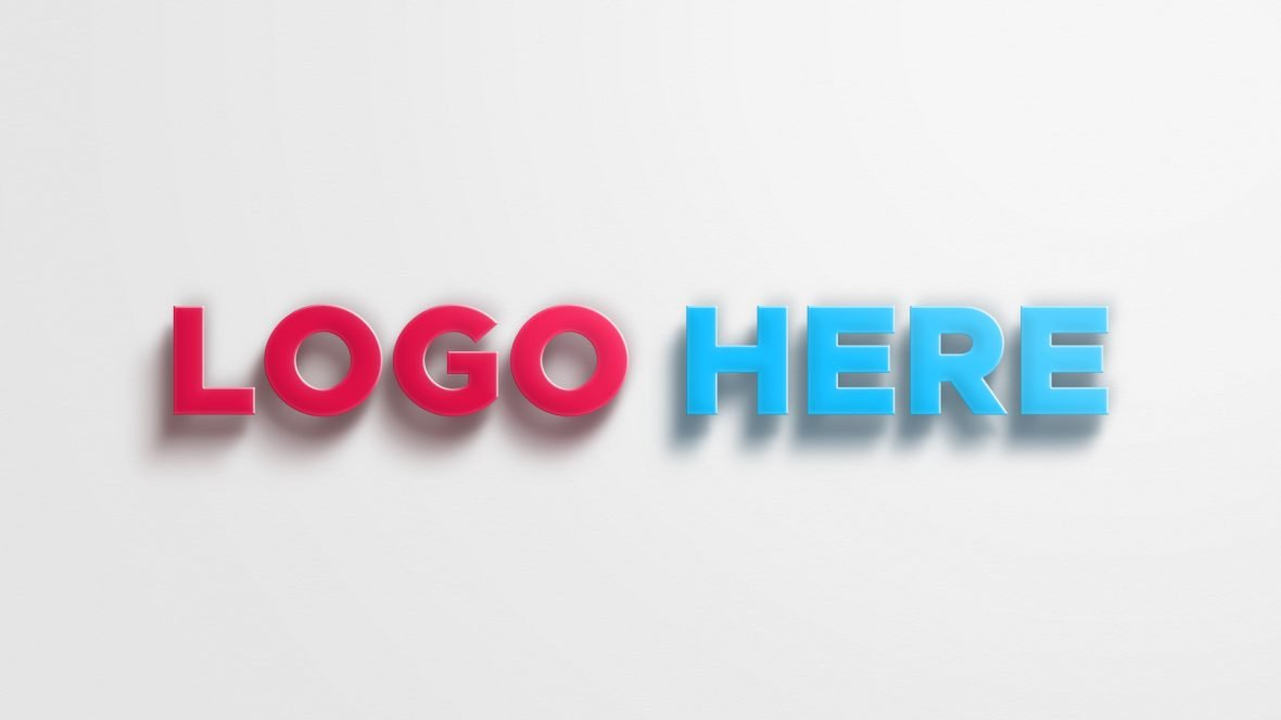 3D Logo Mockup With Realistic Shadow by GraphicsFamily