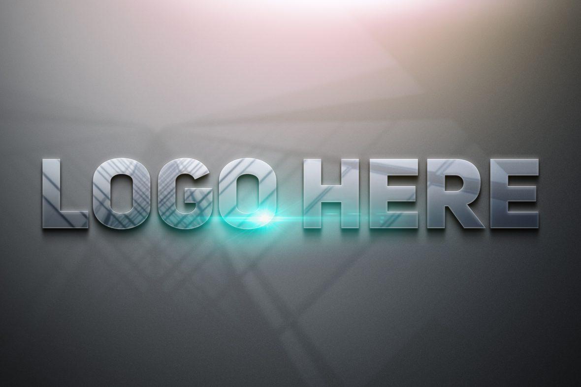 Logo-Here-Free-Photoshop-Glossy-3D-Logo-Mockup