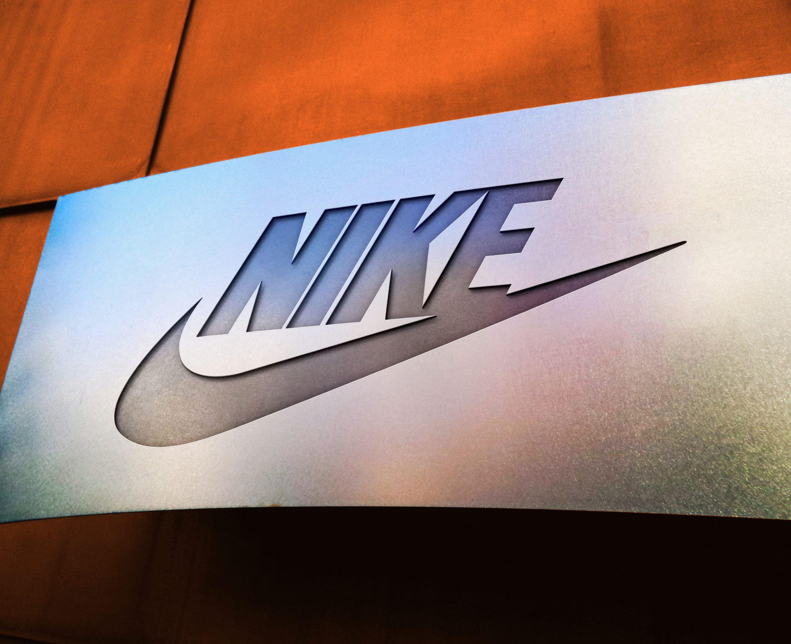 Nike Free Metal Board Logo Mockup