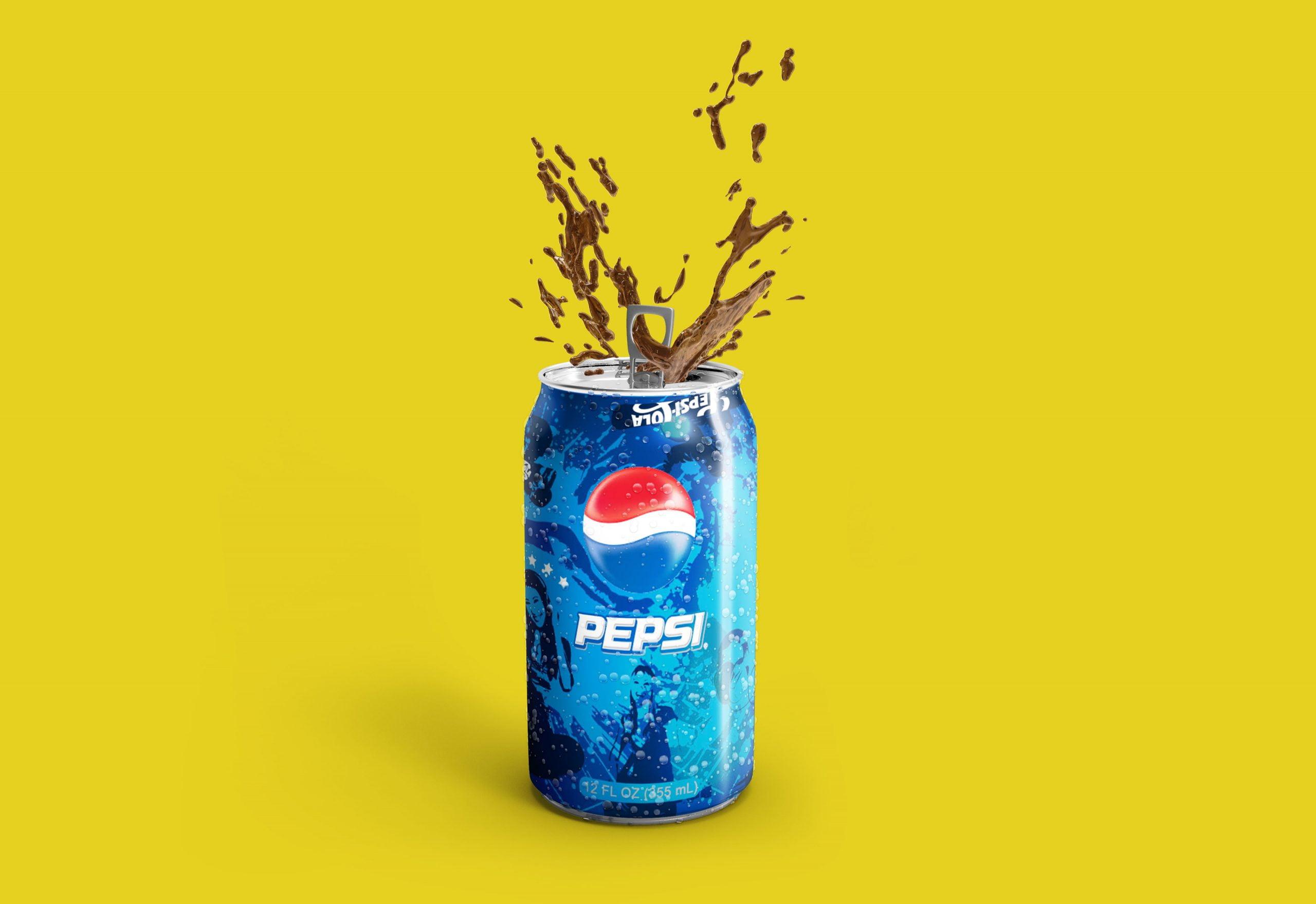 Pepsi Logo Free Soda Can Mockup