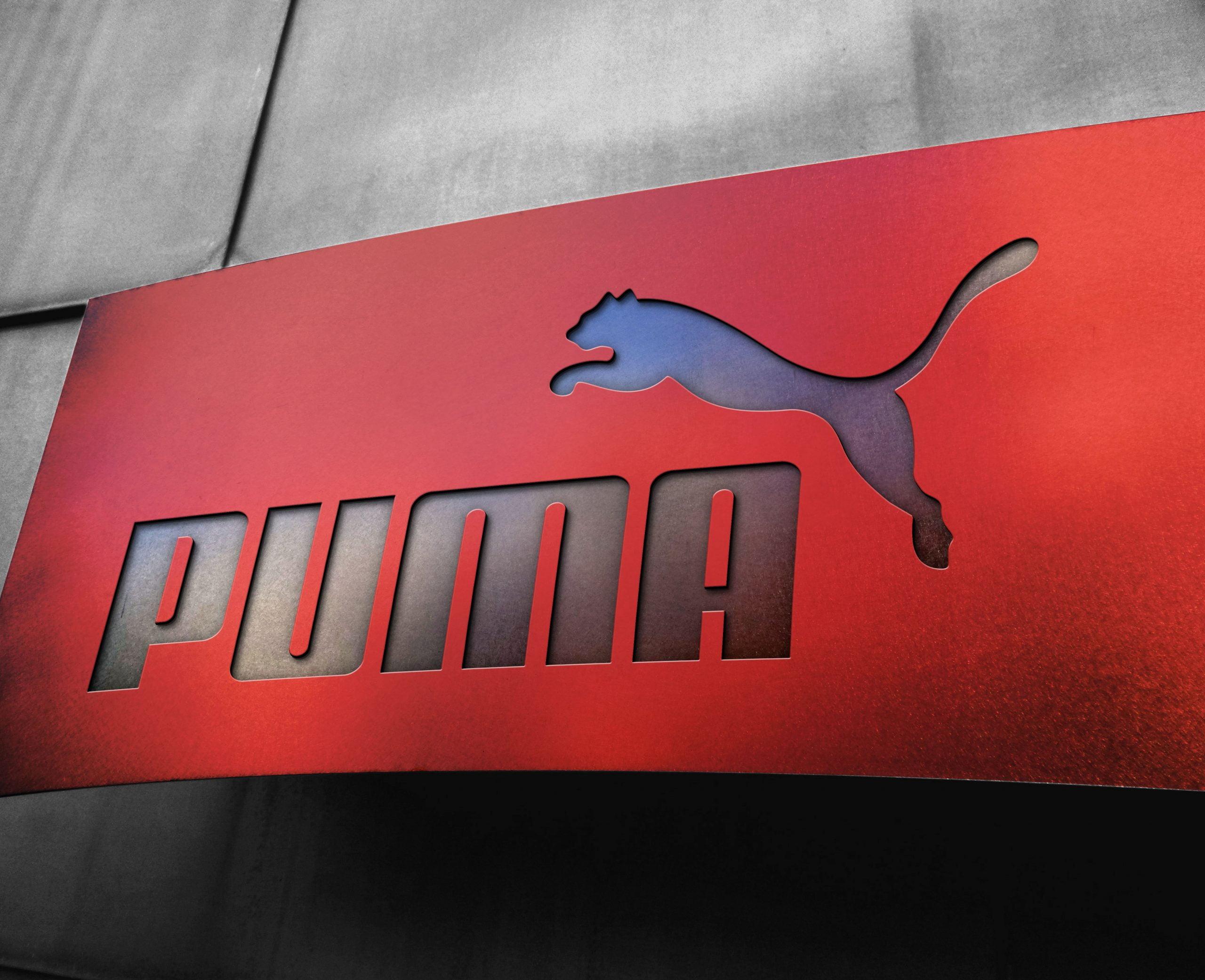 Puma Free Metal Board Logo Mockup