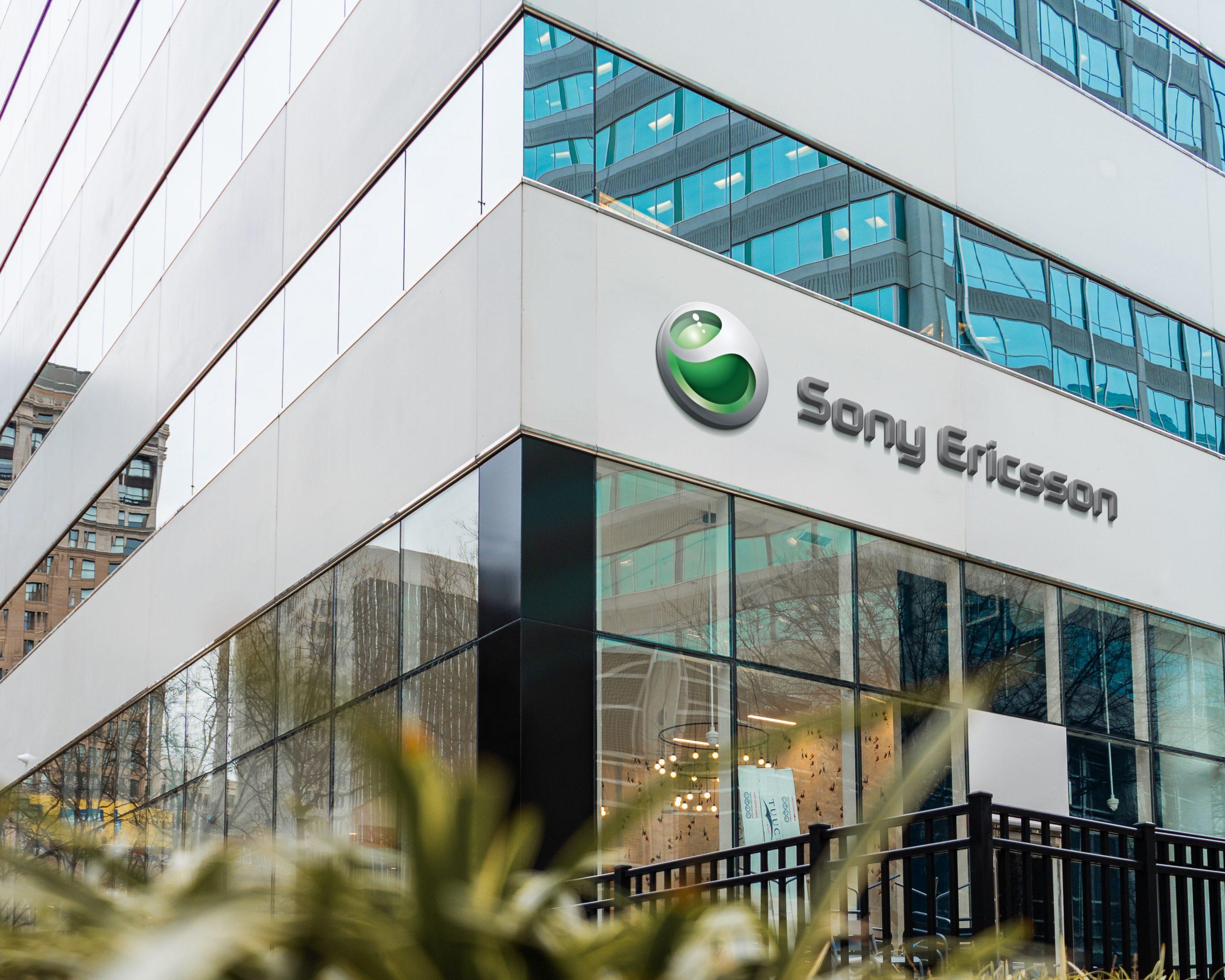Sony Ericsson Famous Store Logo Mockup