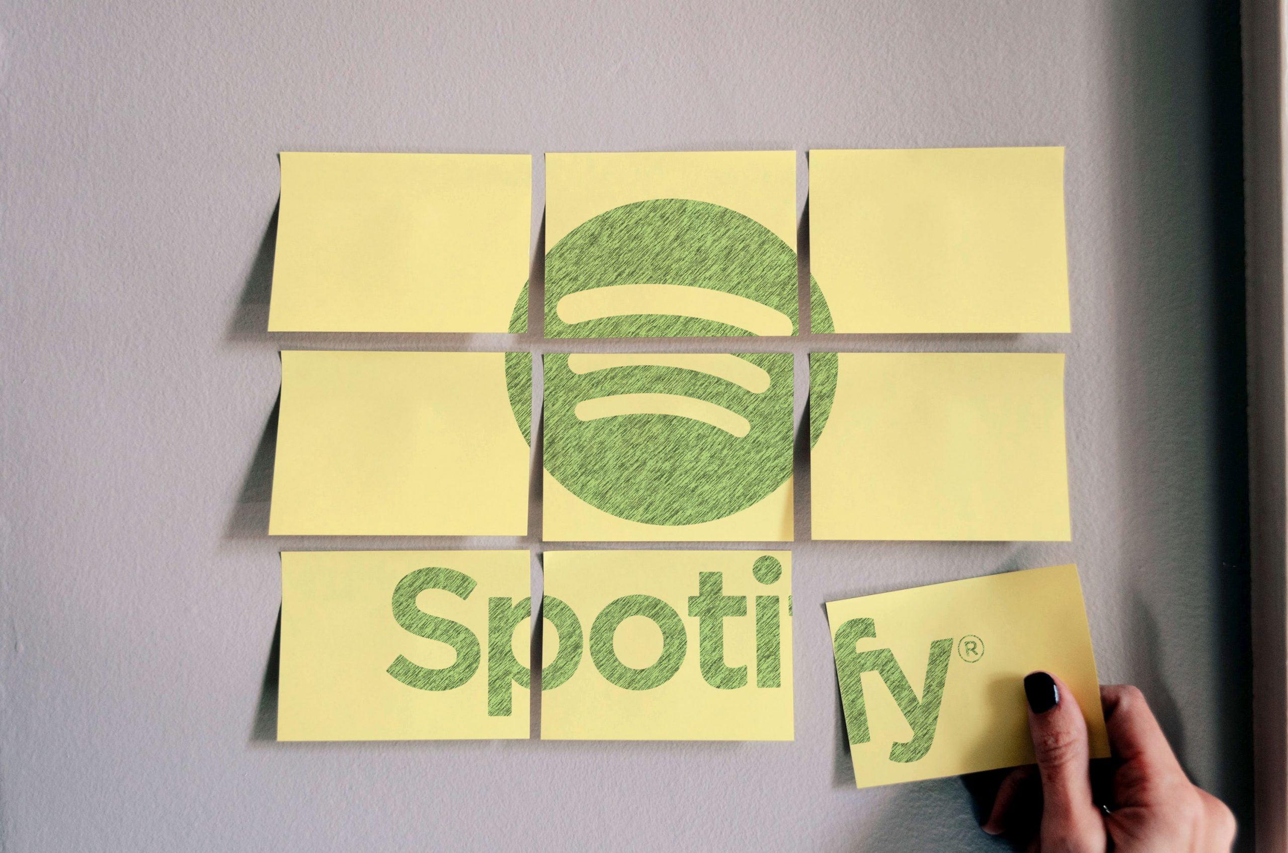Spotify Free Sticky Notes Logo Mockup