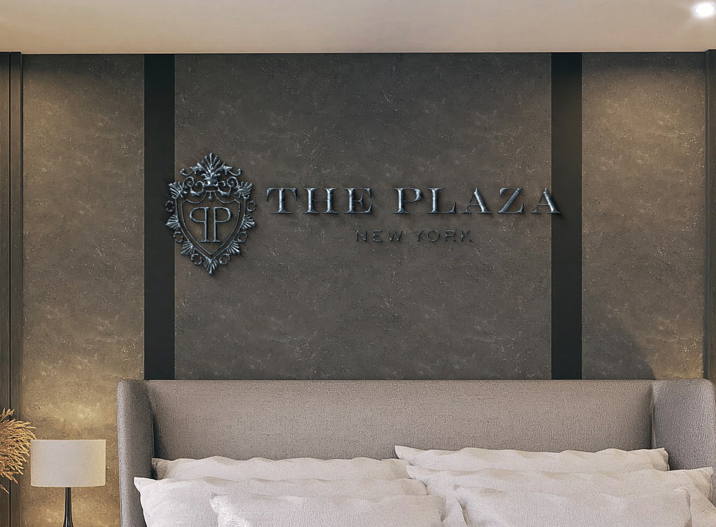 The Plaza Room With King Bed Logo Mock-up