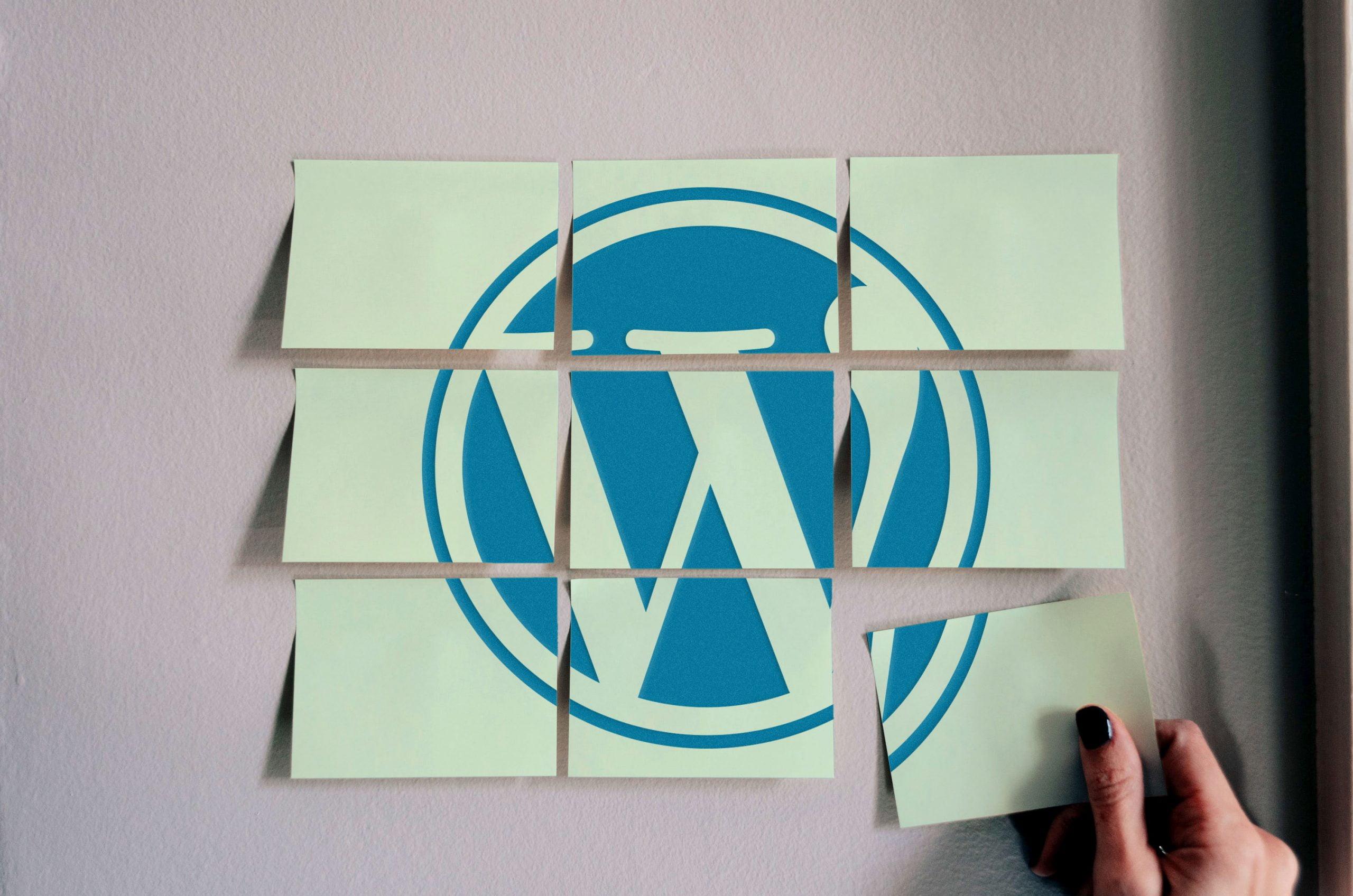Wordpress Free Sticky Notes Logo Mockup