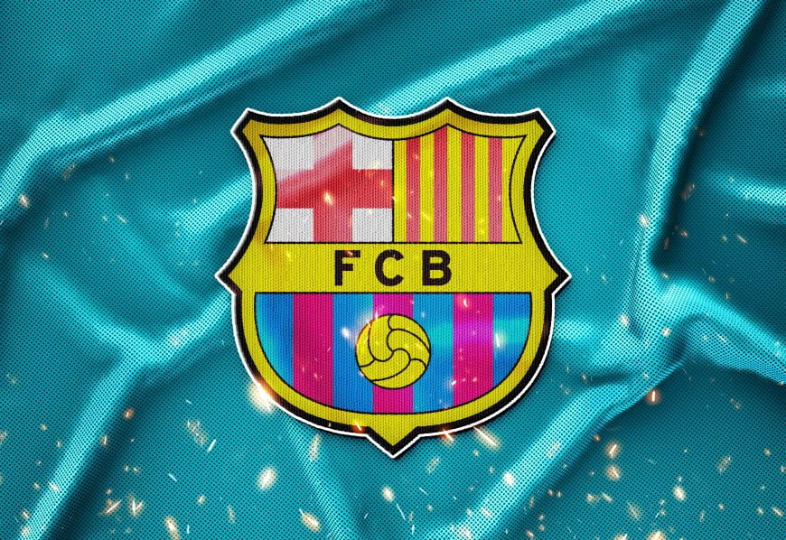 Barcelona Sport Jersey Logo Mockup