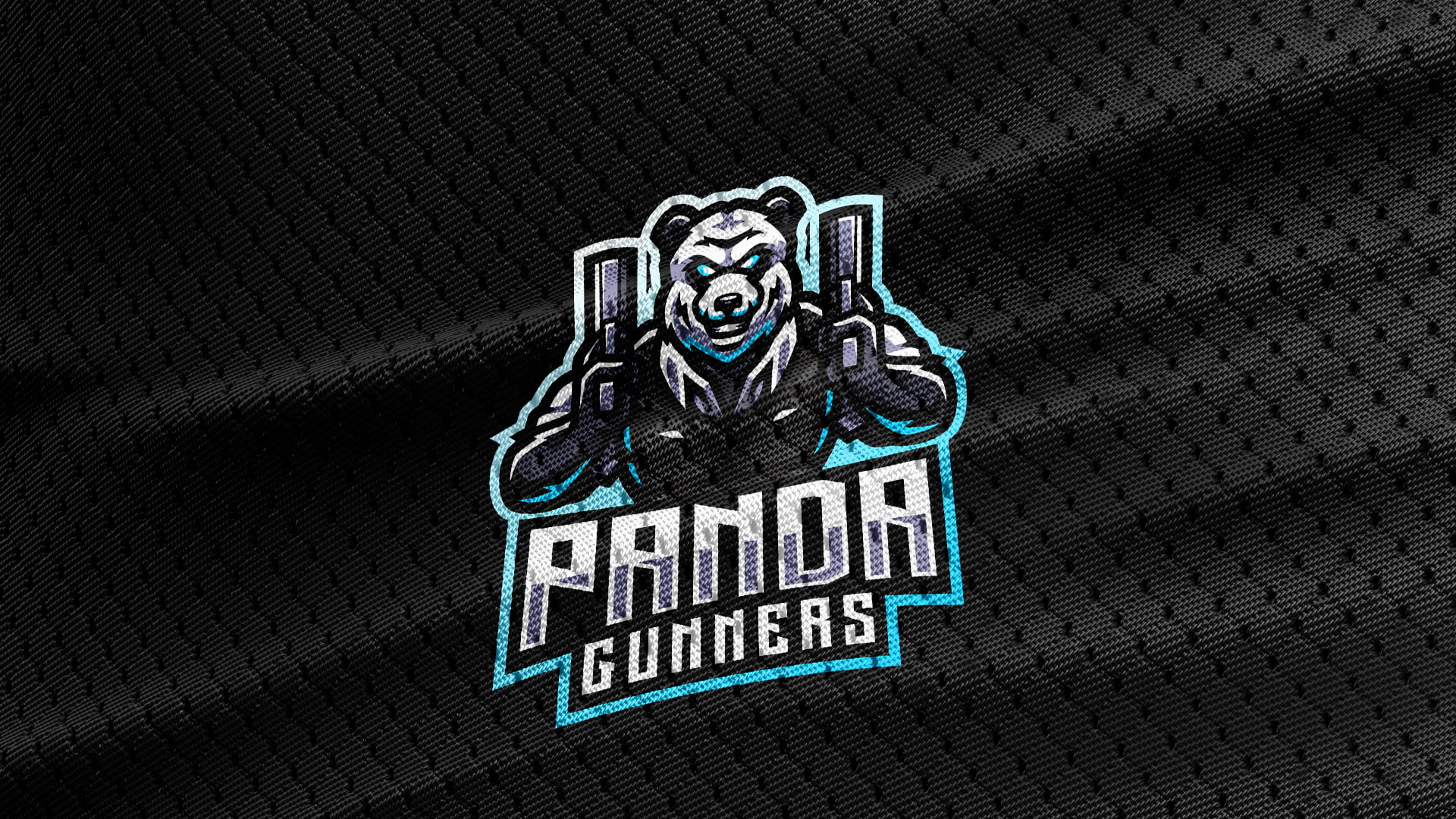 Black-Jersey-Texture-Free-Download-Panda-Bear-Mascot-Logo