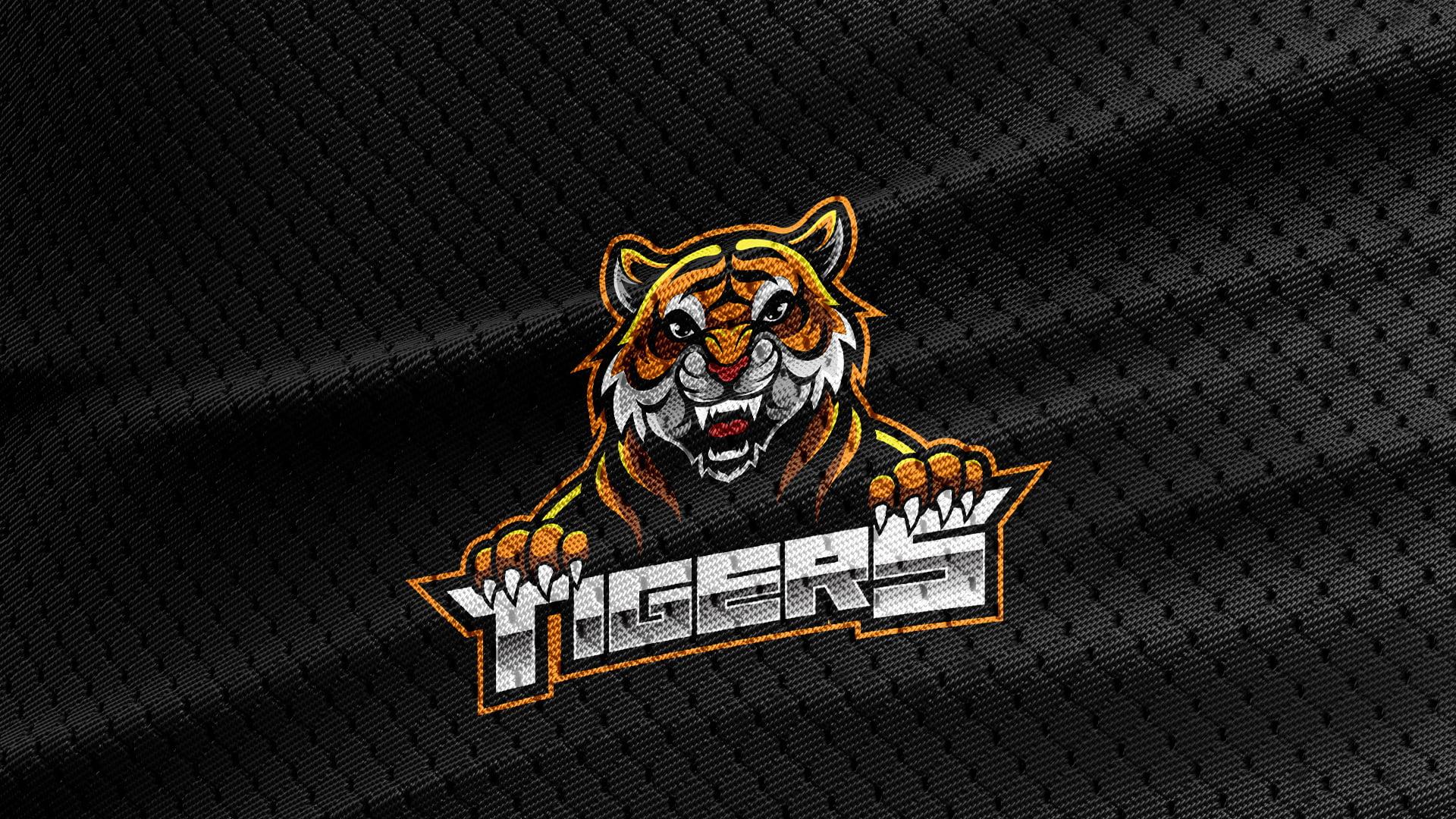 Black-Jersey-Texture-Free-Download-Tiger-Logo-Mascot