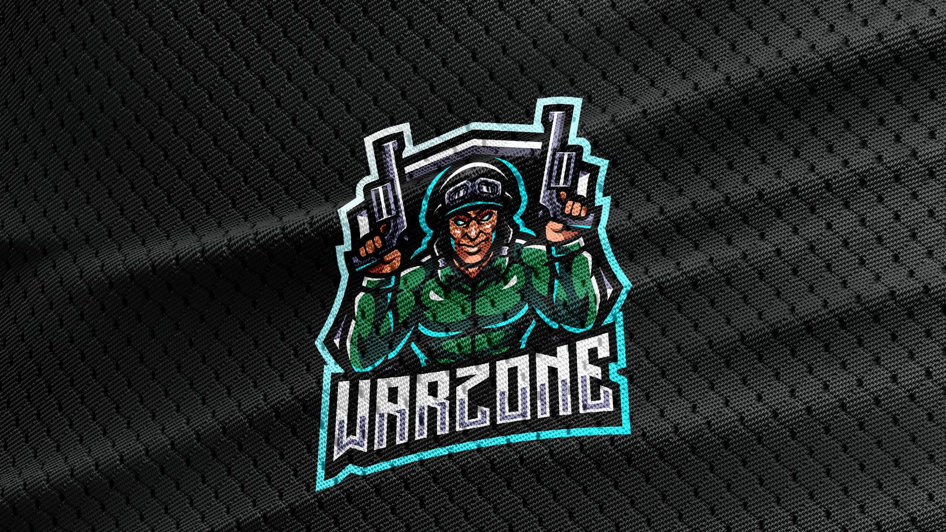 Black-Jersey-Texture-Free-Downloads-Warzone-Gaming-Mascot-Logo