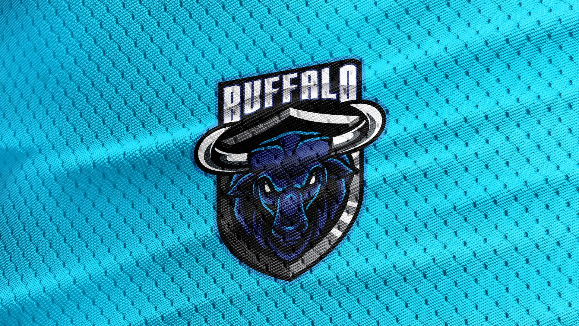 Blue-Jersey-Texture-Free-Buffalo-Mascot-Logo
