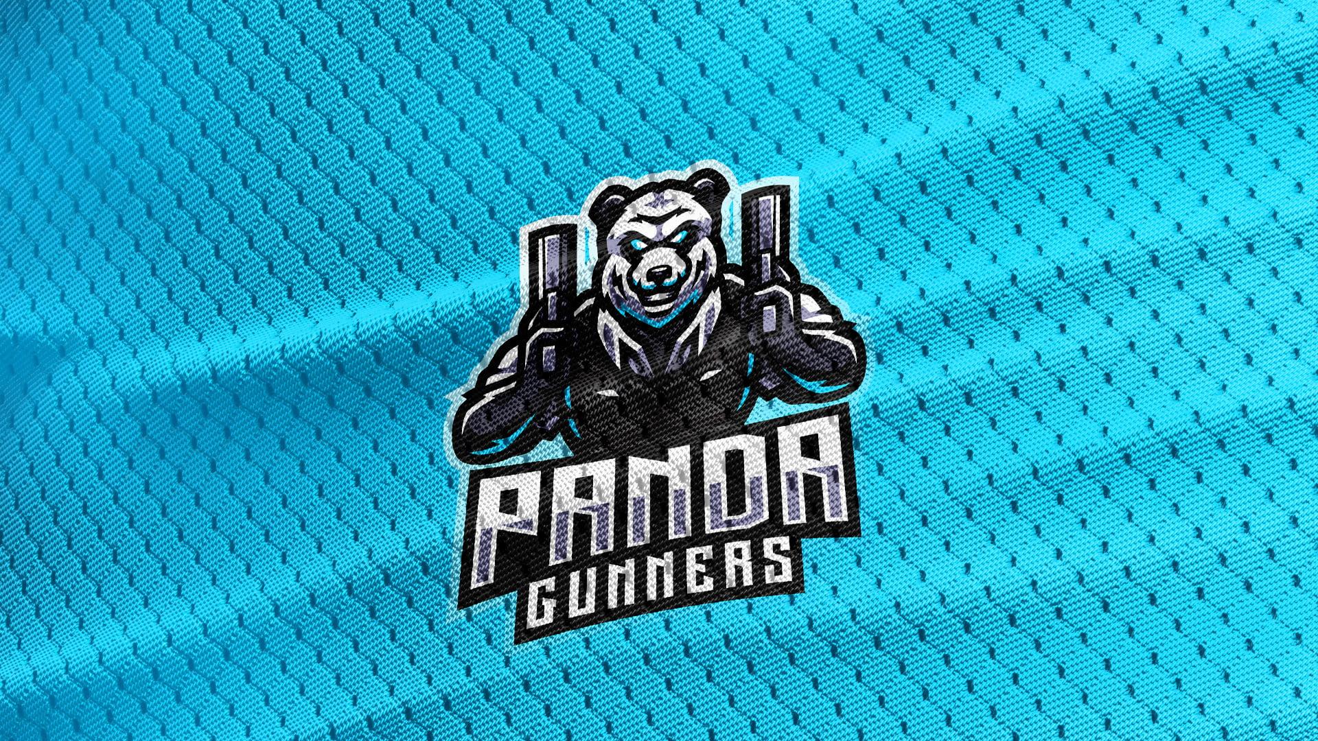 Cyan-Jersey-Texture-Free-Download-Panda-Bear-Mascot-Logo
