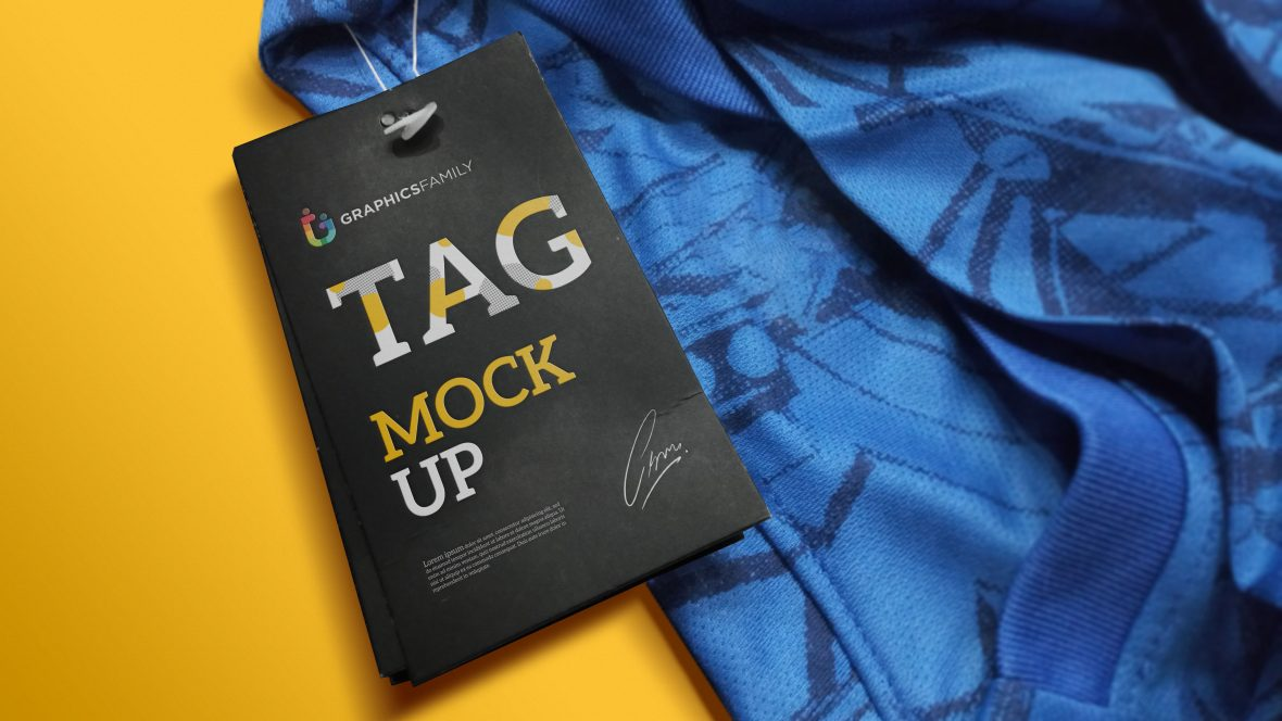 Download Free Tag Mockup
