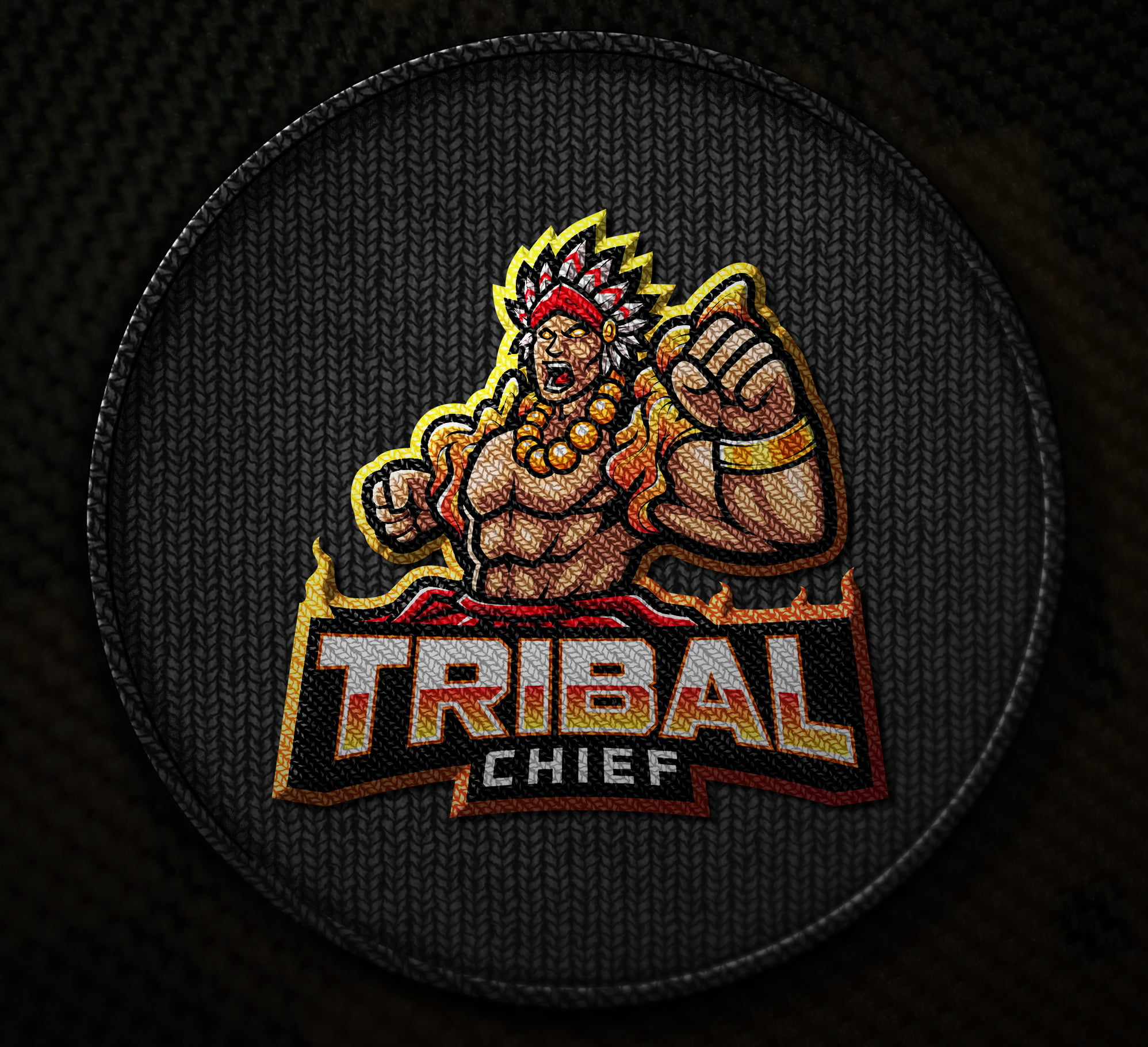Embroidered-Free-Tribal-Chief-Logo-Mascot