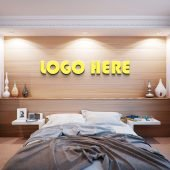 Free Bedroom Logo Mockup
