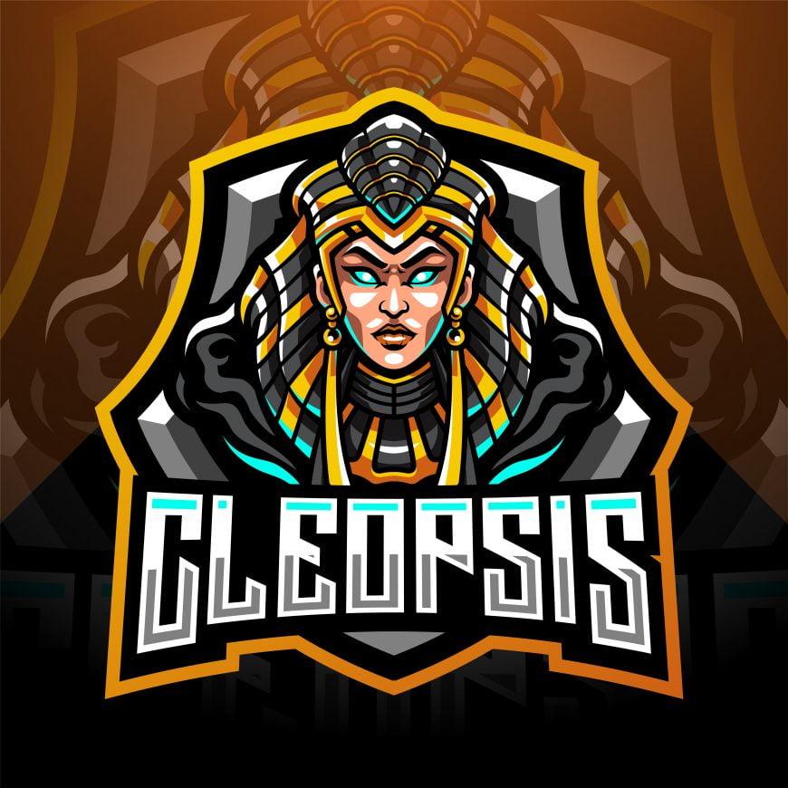 Free Cleopsis Gaming Mascot Logo