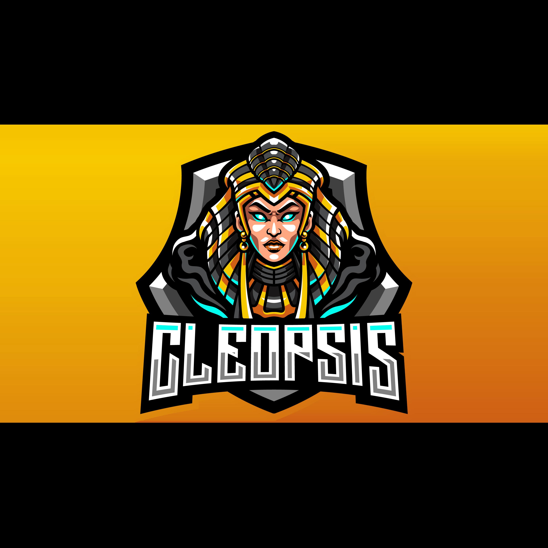 Free-Cleopsis-Gaming-Mascot-Logo-PNG-transparent