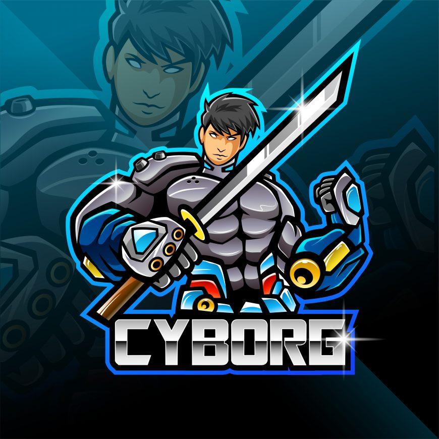 Free Cyborg Logo Mascot