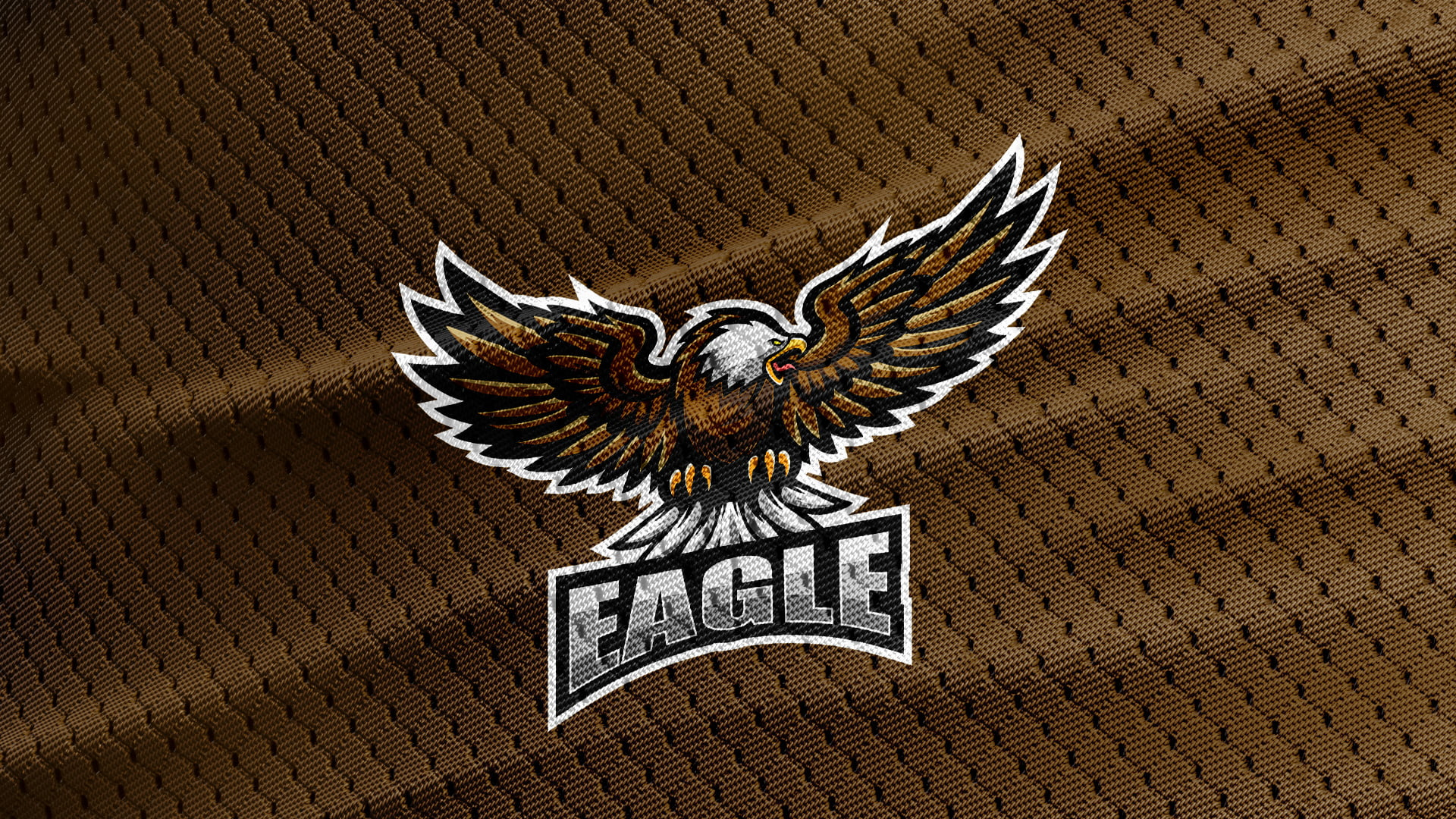 Free-Eagle-Mascot-Brown-Jersey-Texture-Logo