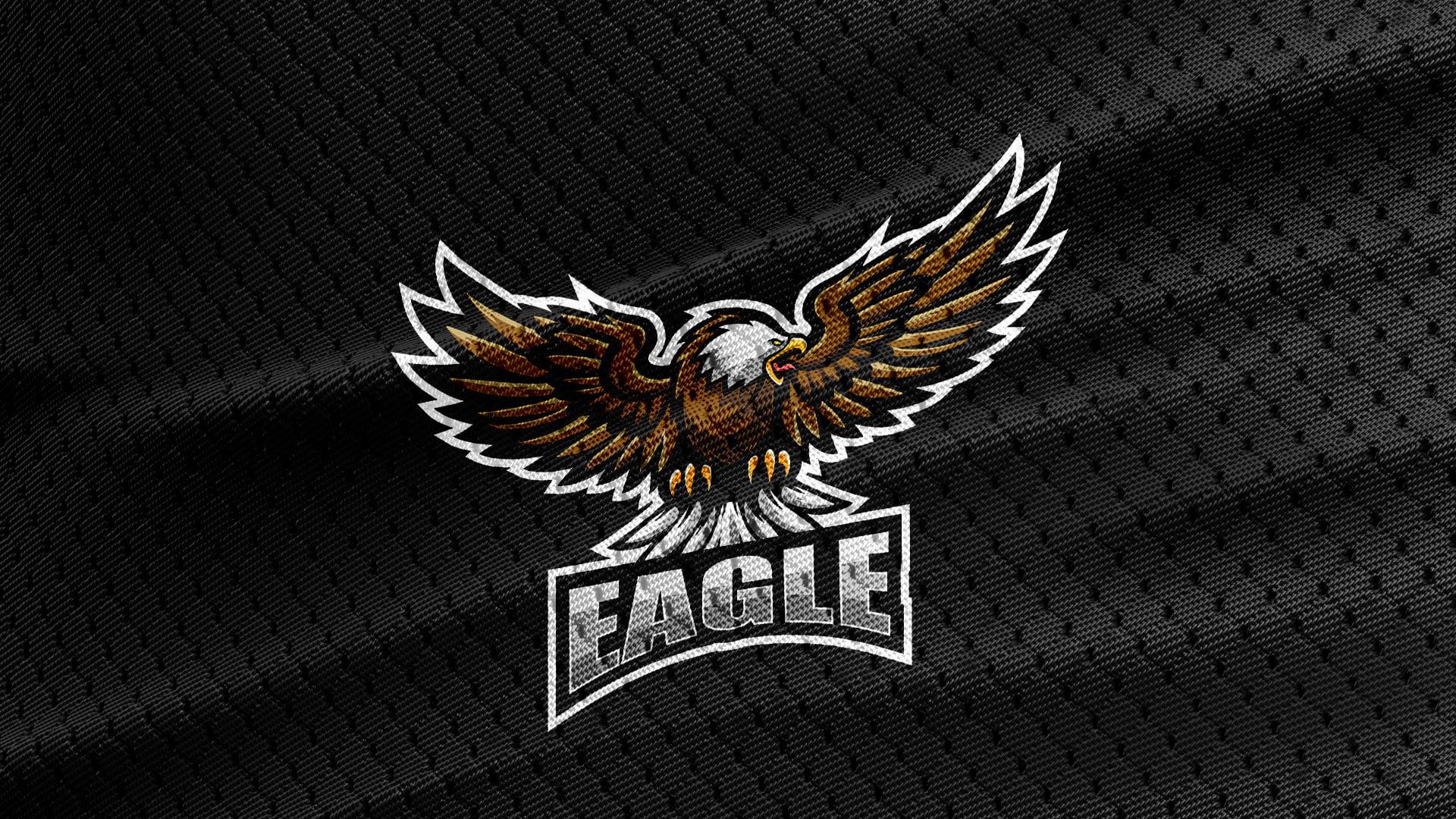 Free-Eagle-Mascot-Jersey-Black-Texture-Logo