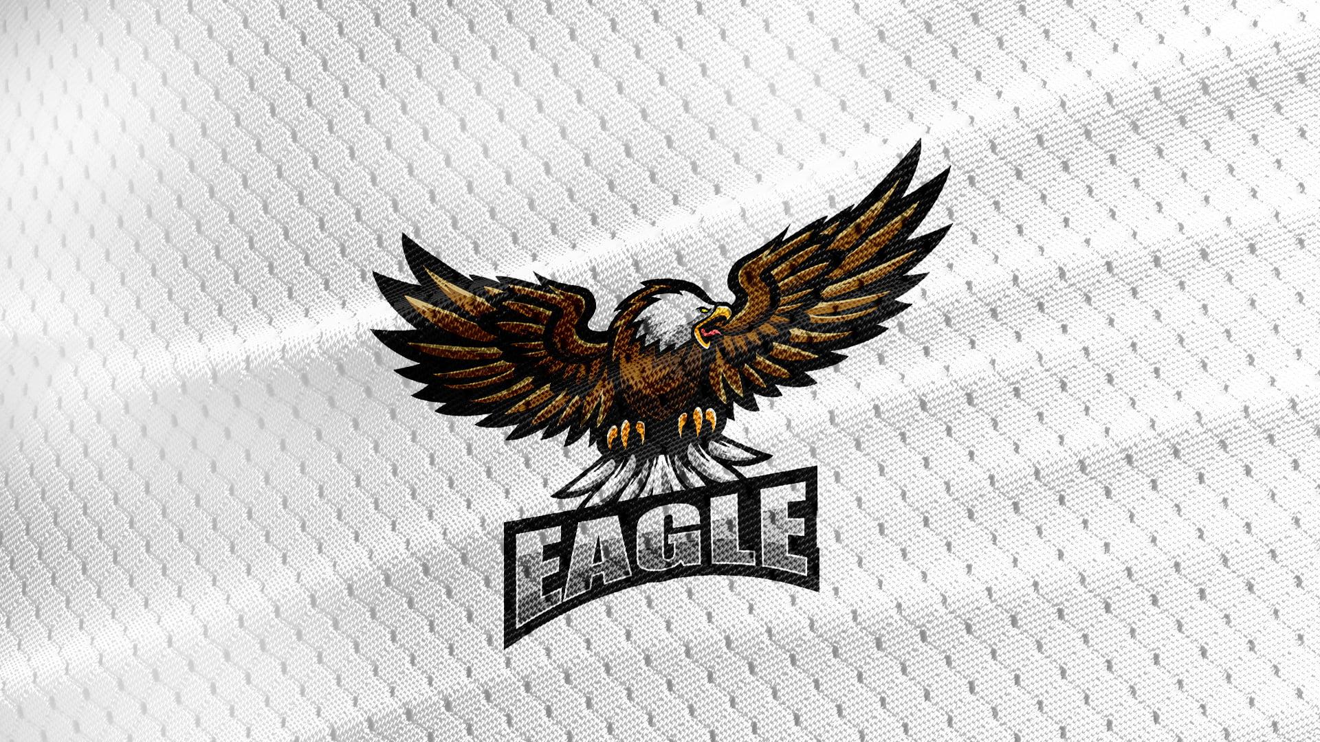 Free-Eagle-Mascot-Jersey-White-Texture-Logo