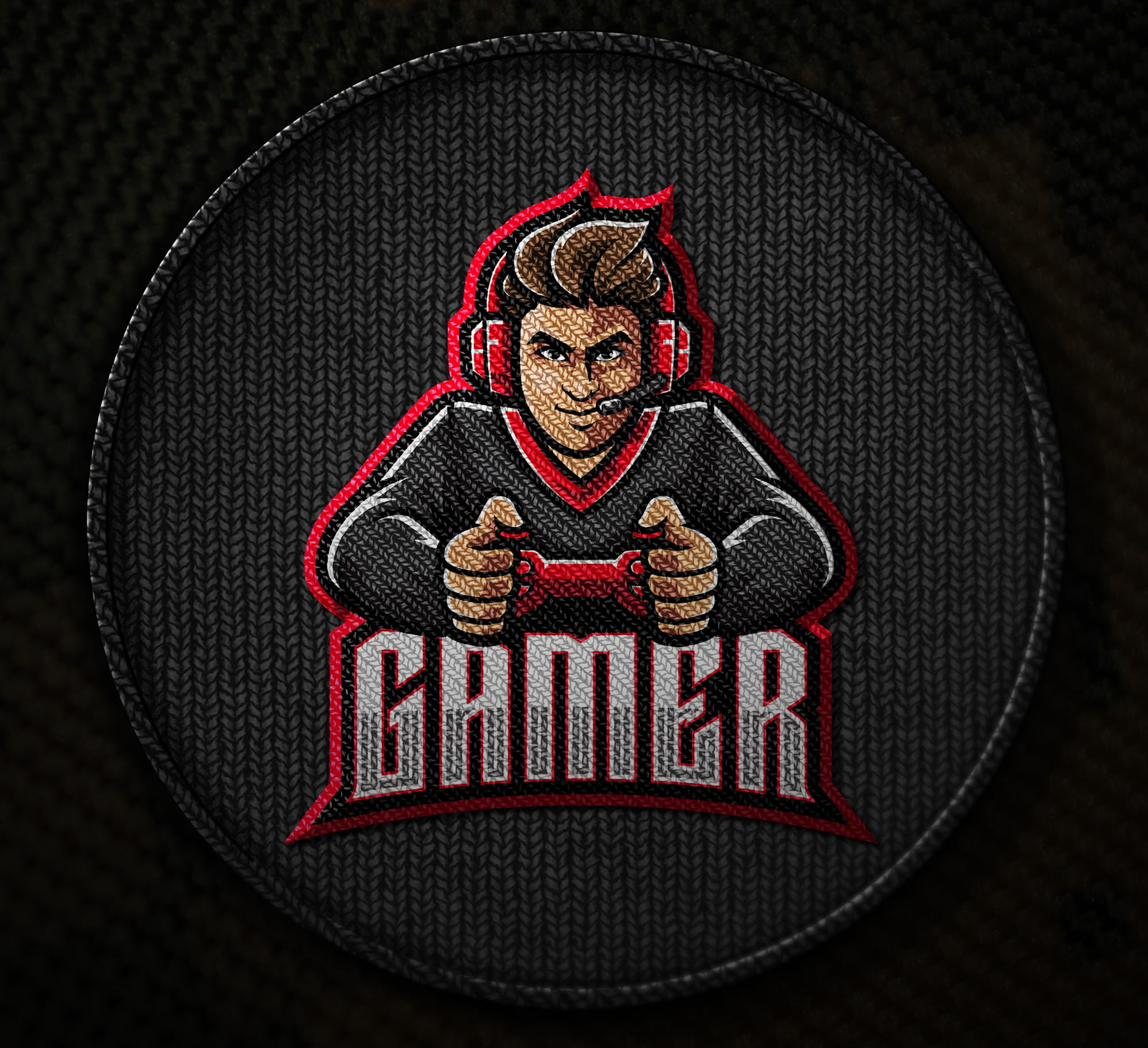 Free-Gaming-Embroidered-Logo-Mascot