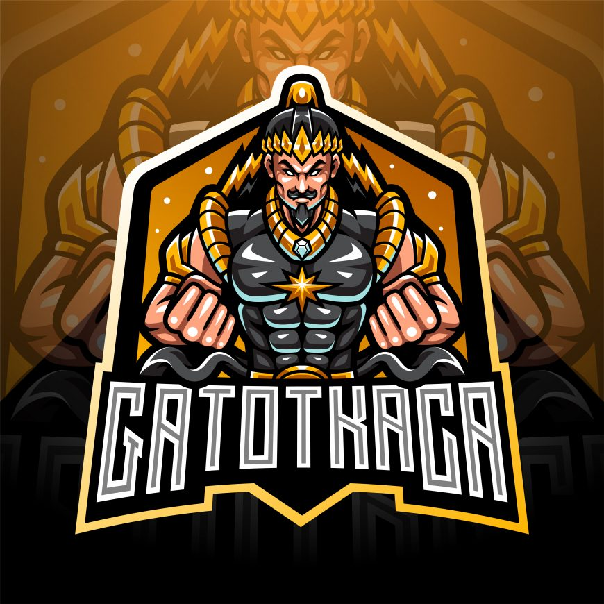 Free Gatotkaca Mascot Logo