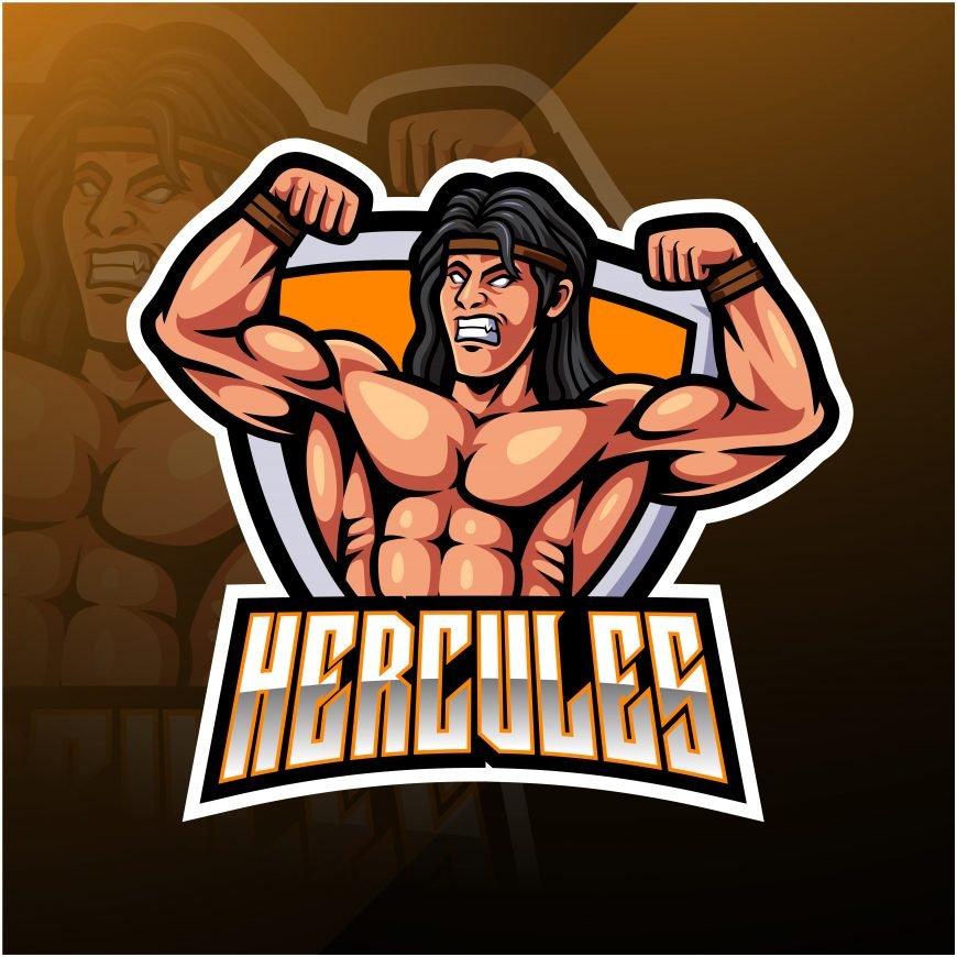 Free Hercule Mascot Logo