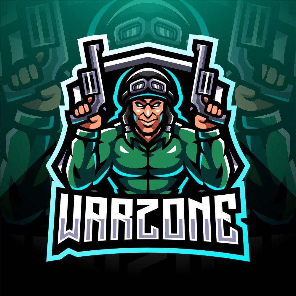 Free Warzone Gaming Mascot Logo