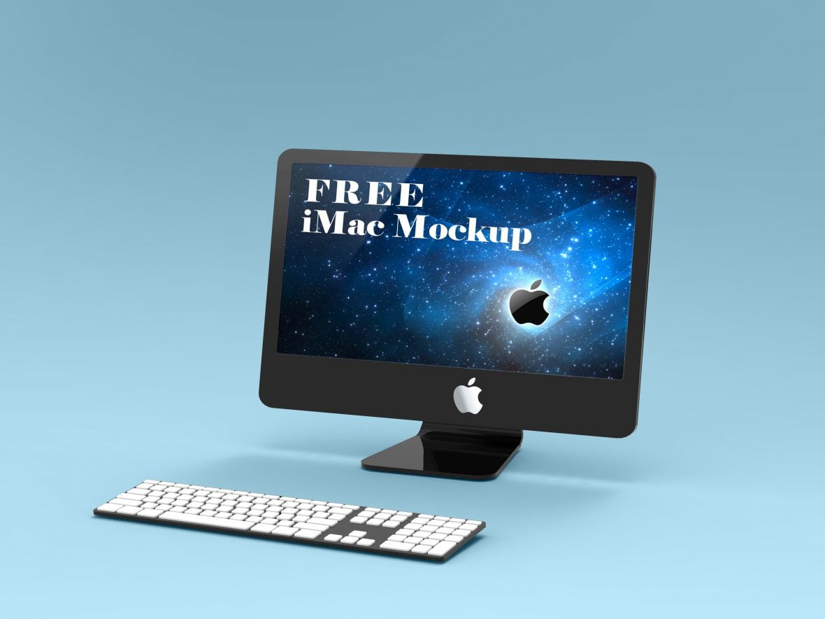 Free iMac Mockup by GraphicsFamily