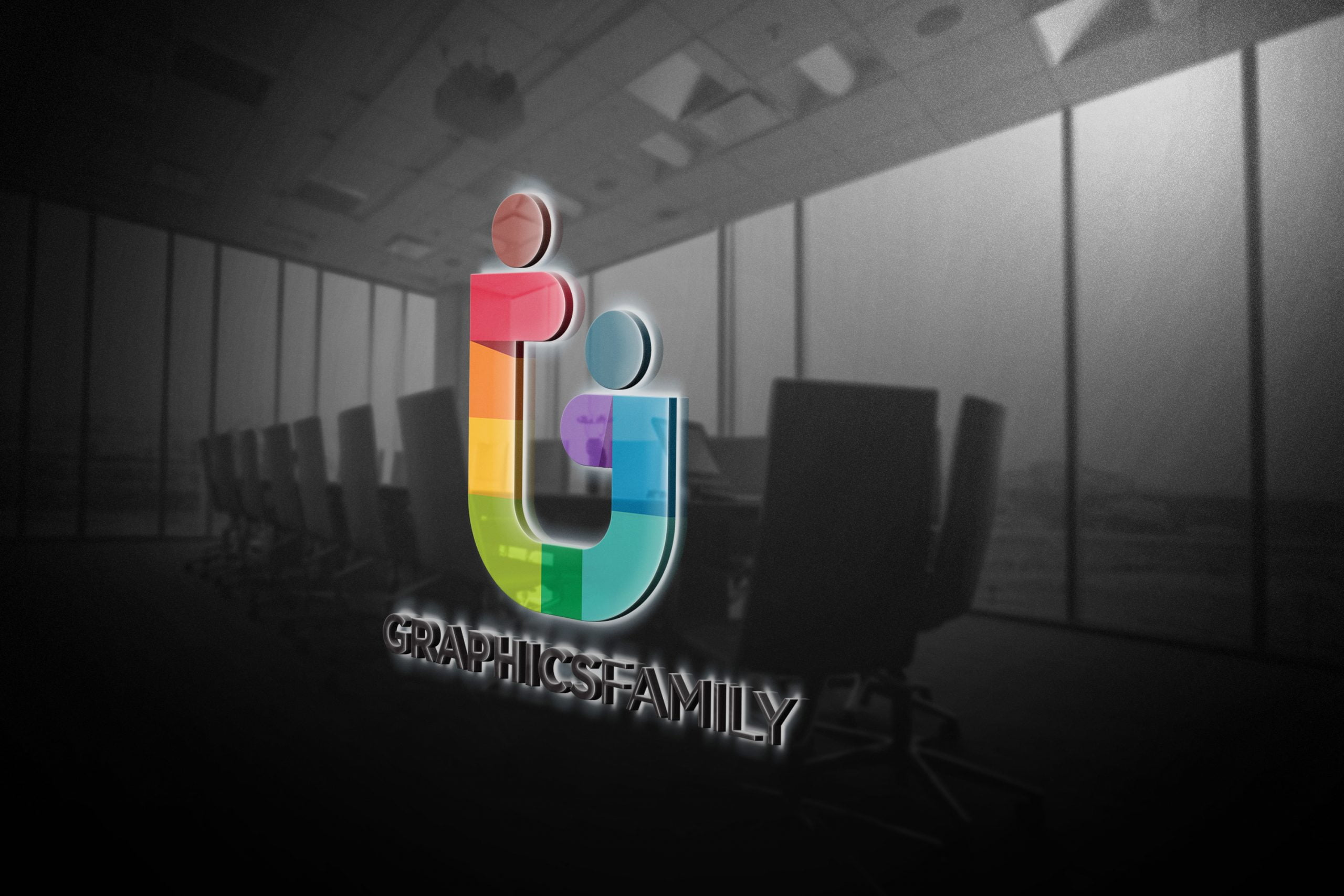 GraphicsFamily-Free-Logo-Mockup-Office-Glass-3D