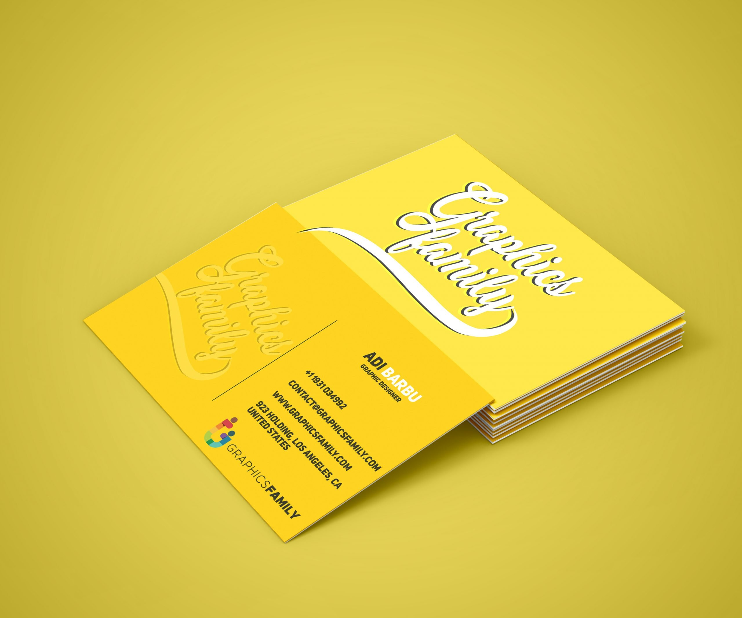 Business Card Mockup by GraphicsFamily