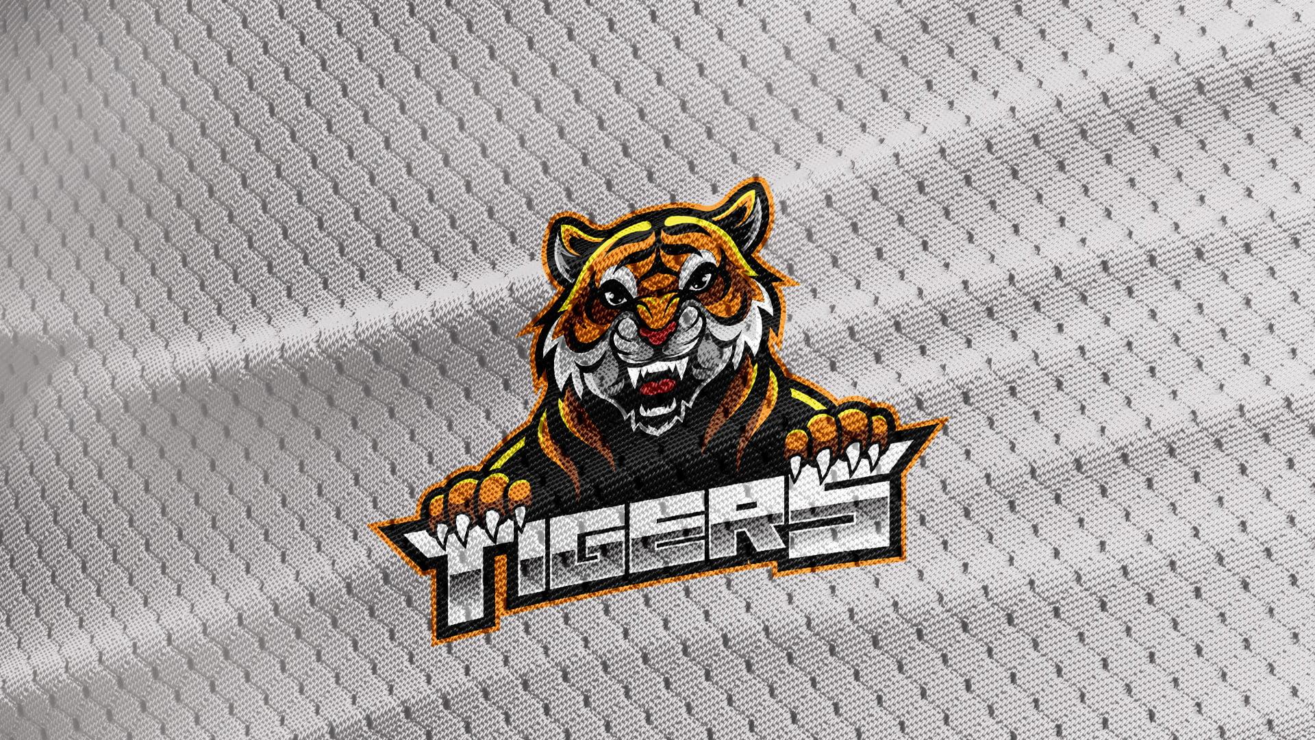 Gray-Jersey-Texture-Free-Download-Tiger-Logo-Mascot