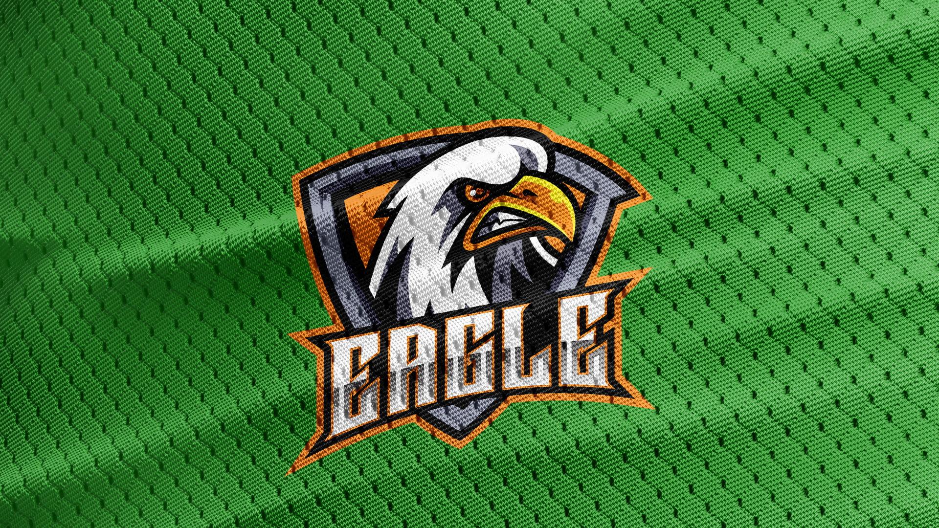 Greeen-Jersey-Texture-Free-Eagle-Logo-Mascot