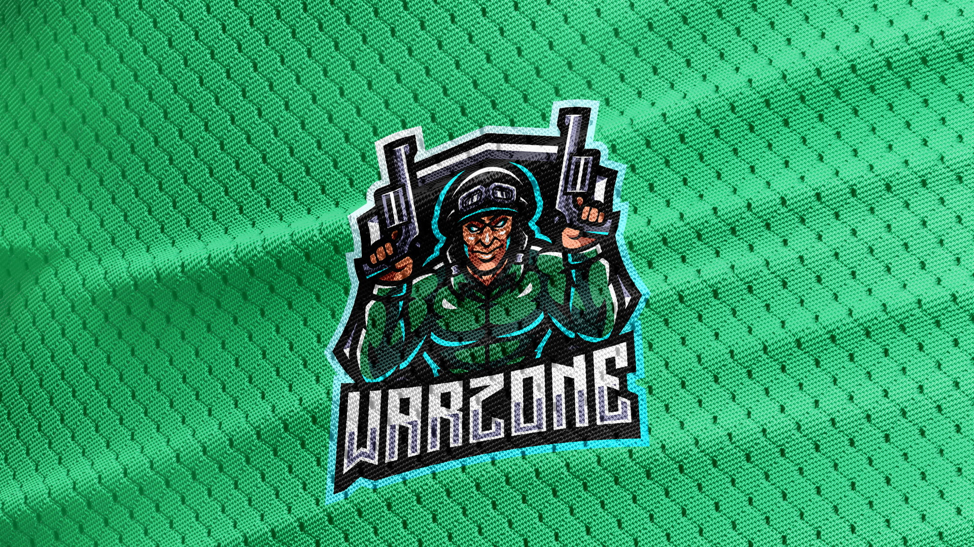 Green-Jersey-Texture-Free-Downloads-Warzone-Gaming-Mascot-Logo