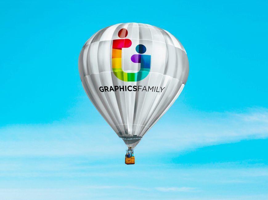 Hot Air Baloon Mockup Graphicfamily