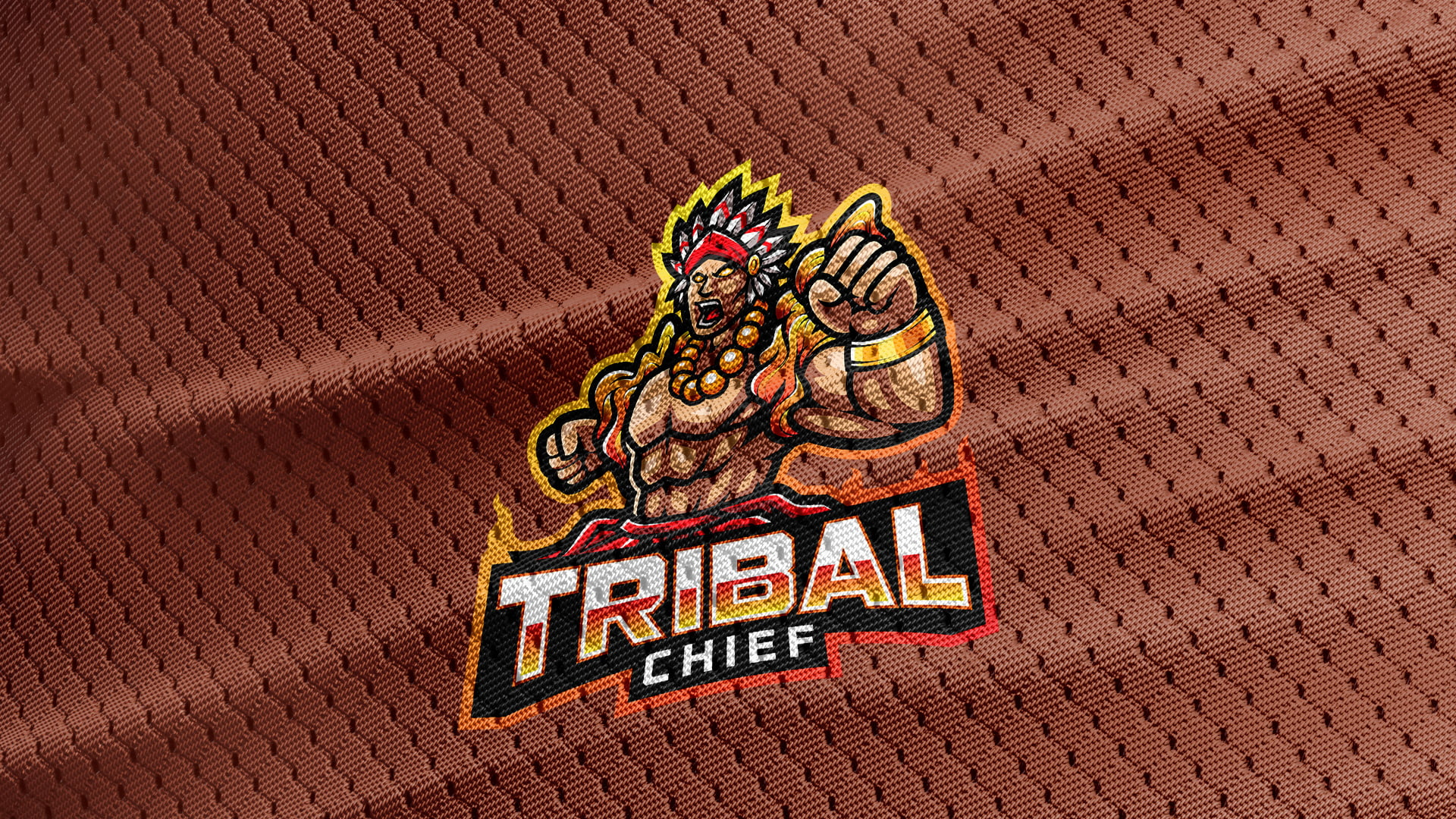 Jersey-Texture-Free-Download-Tribal-Chief-Logo-Mascot