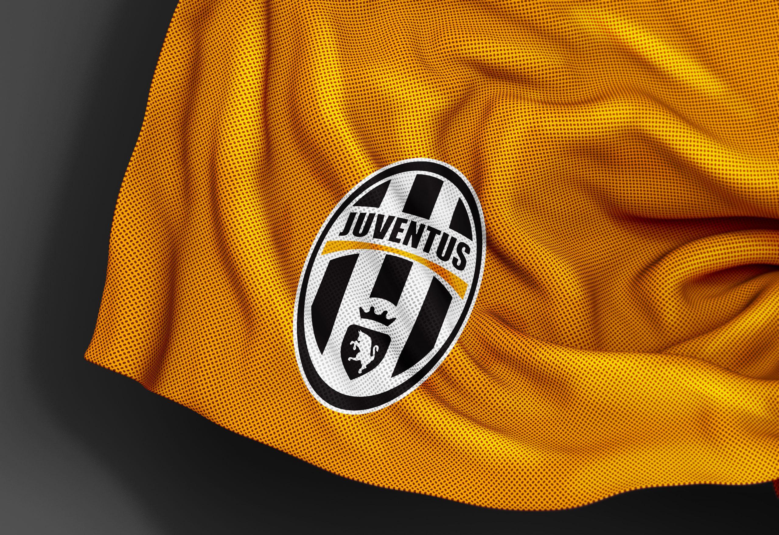 Juventus Free Jersey Texture Logo Mockup