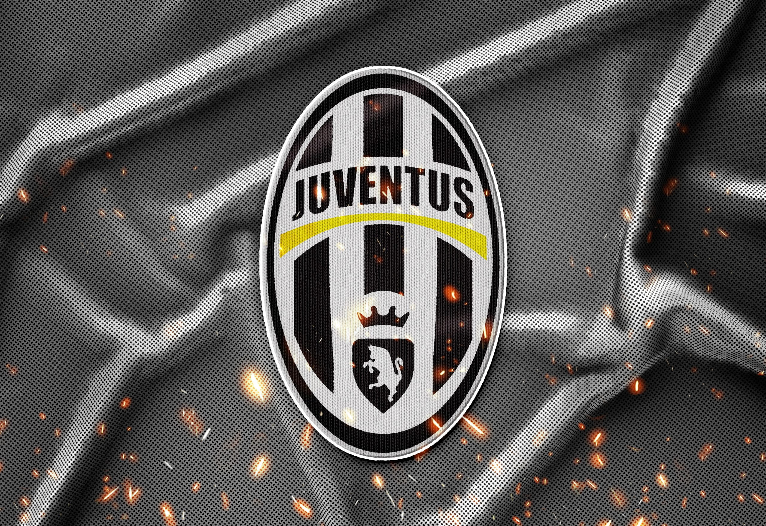 Juventus Sports Jersey Texture Logo Mockup