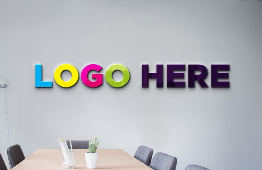 Conference Room Logo Mockup by GraphicsFamily