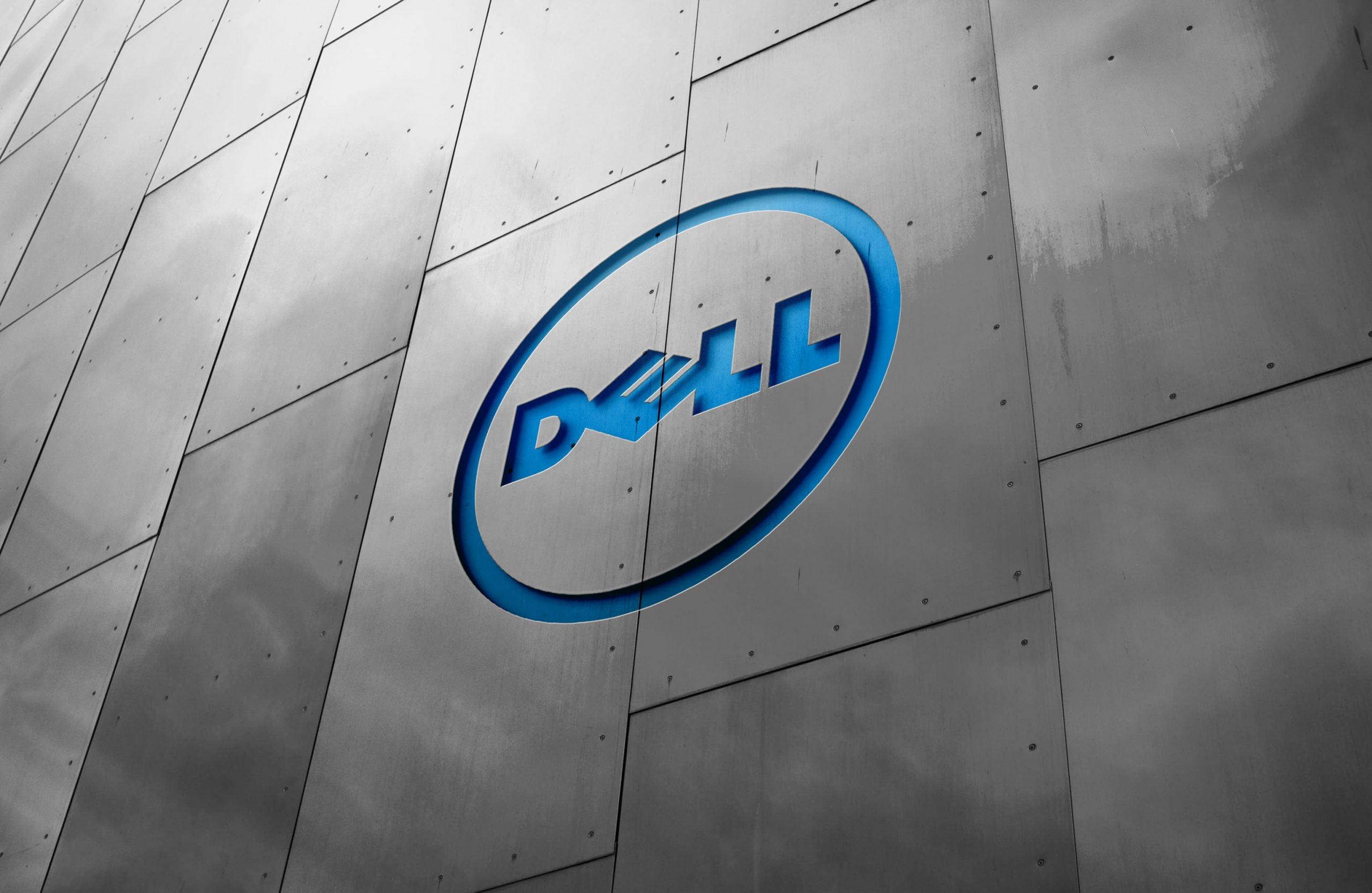 Metal Wall Logo Mockup Dell