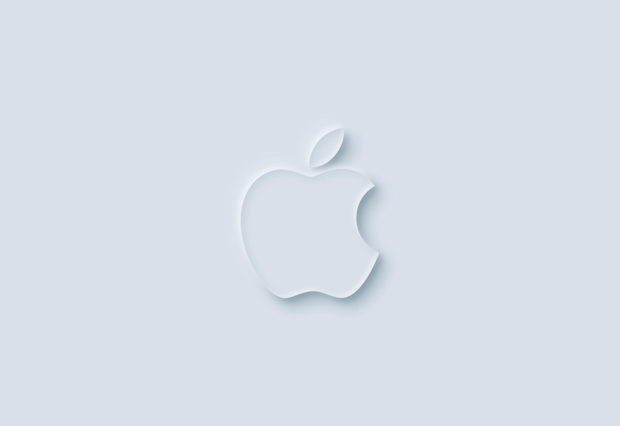 Neumorphism Logo Mockup Apple