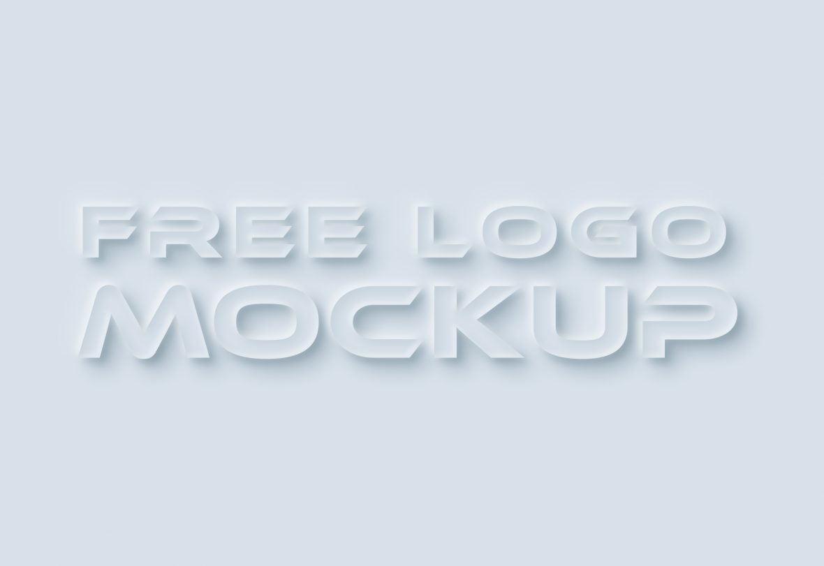 Neumorphism-Logo-Mockup-Download