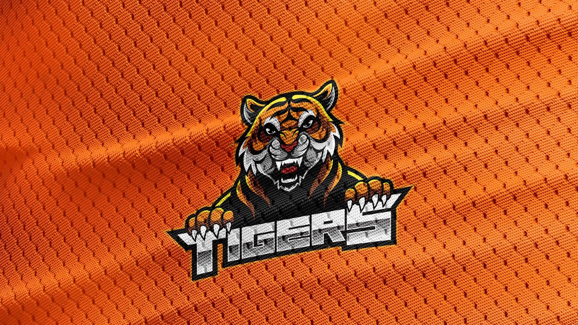 Orange-Jersey-Texture-Free-Download-Tiger-Logo-Mascot