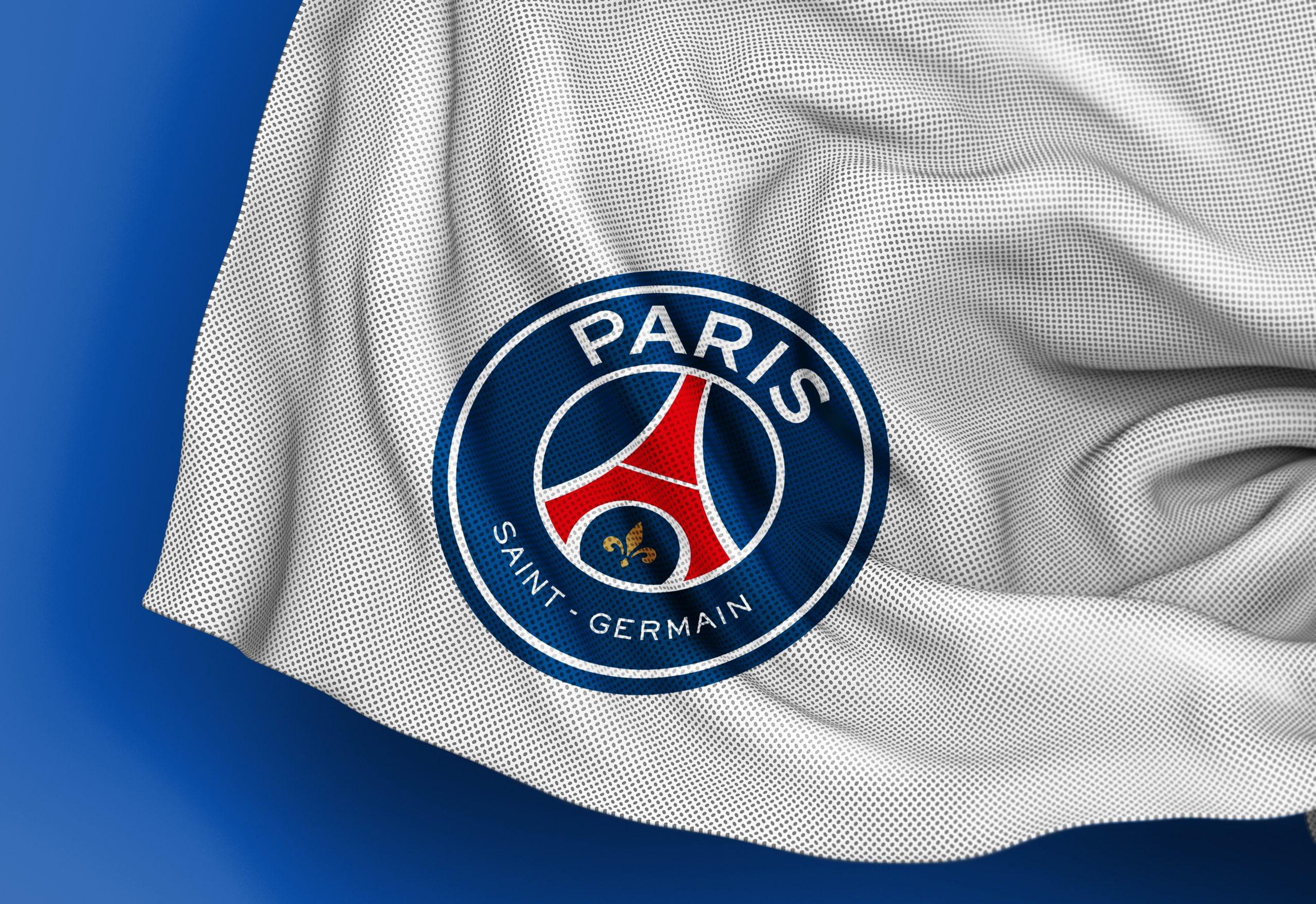 Paris Saint Germain Free Jersey Texture Logo Mockup