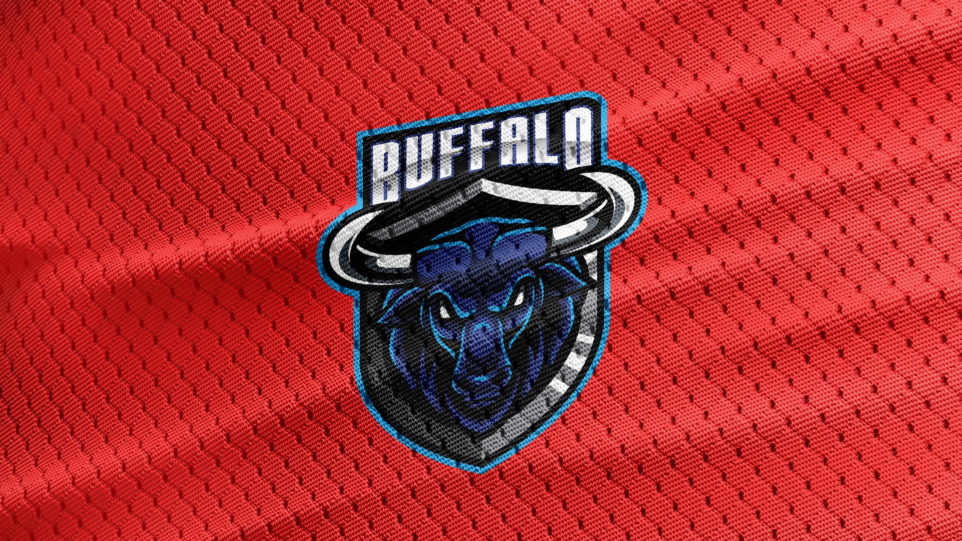 Red-Jersey-Texture-Free-Buffalo-Mascot-Logo