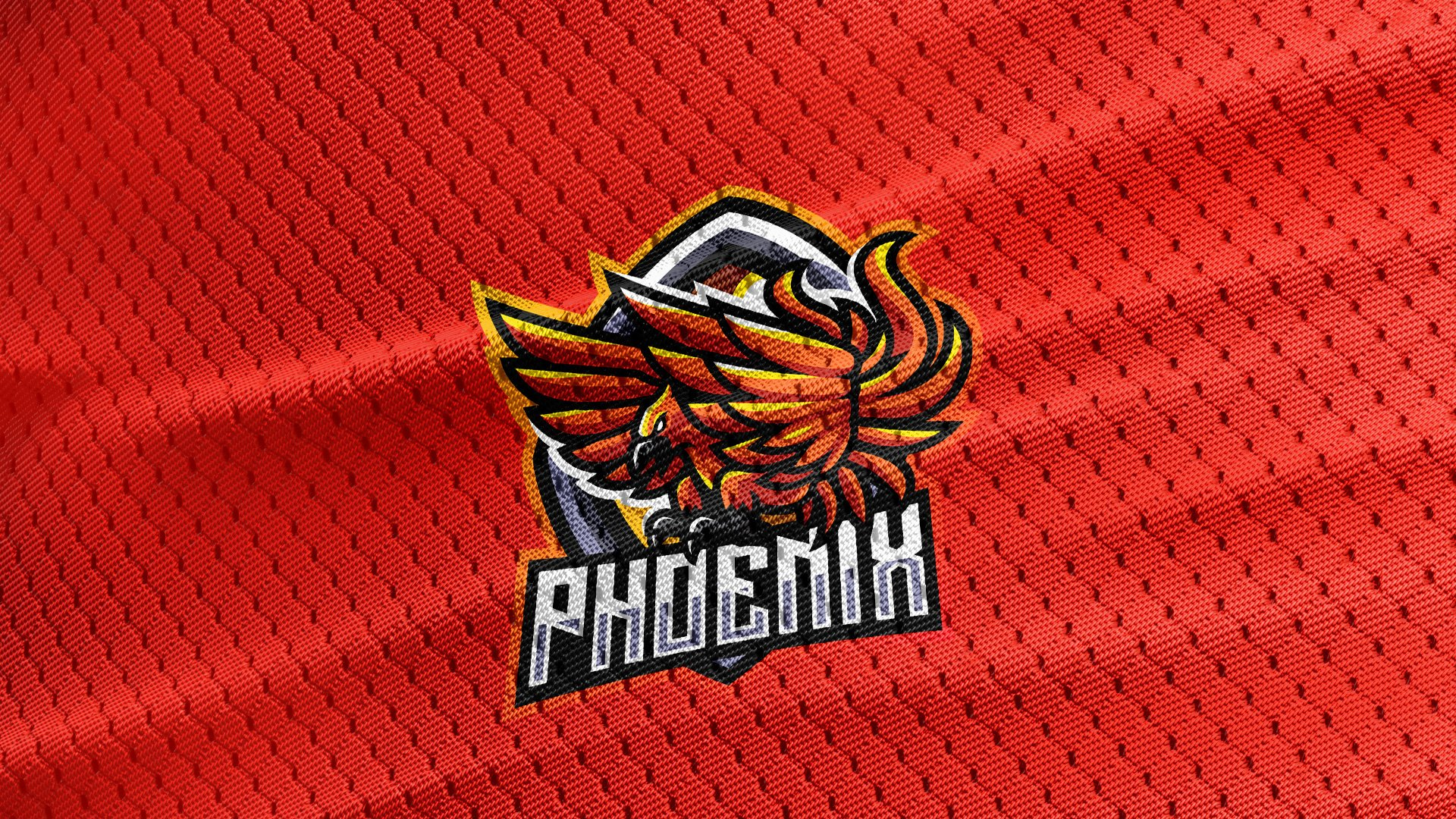 Red-Jersey-Texture-Free-Download-Phoenix-Mascot-Logo