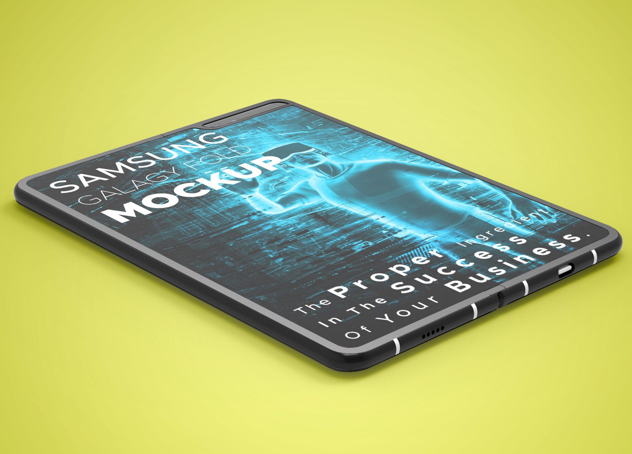 Samsung-Galaxy-Fold-Mockup-Free-Download