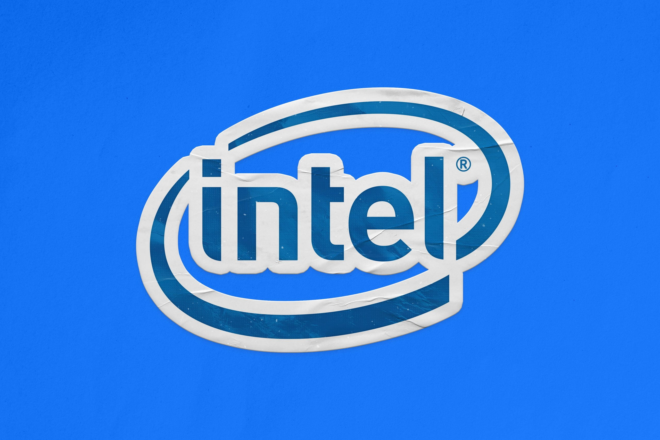 Sticker Logo Mockup Intel