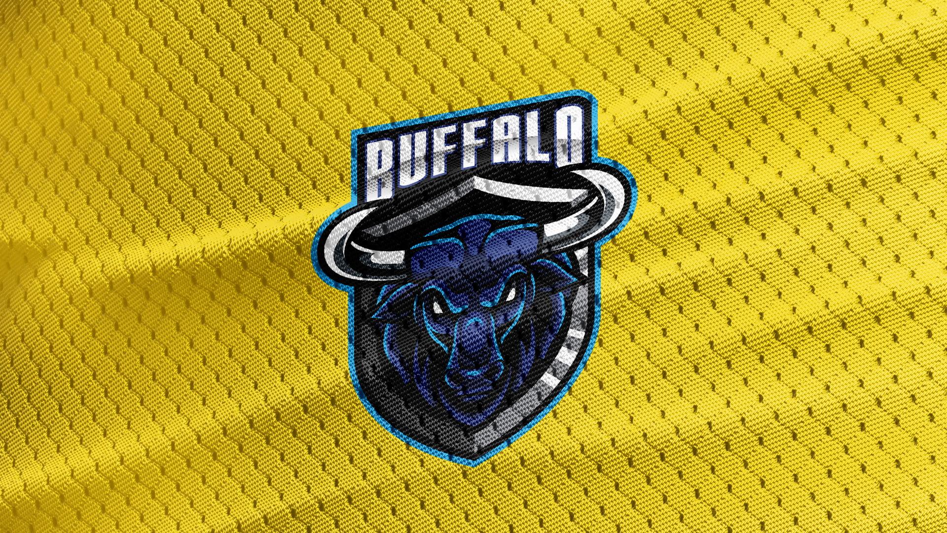 Yellow-Jersey-Texture-Free-Buffalo-Mascot-Logo