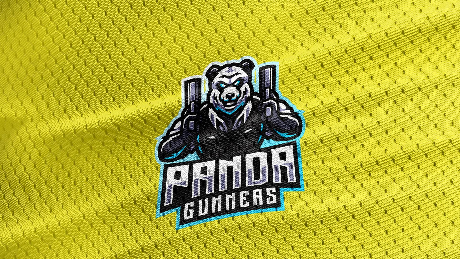 Yellow-Jersey-Texture-Free-Download-Panda-Bear-Mascot-Logo